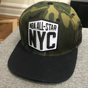 Adidas NBA 2015 All Star NYC Snapback Cap Hat Camo